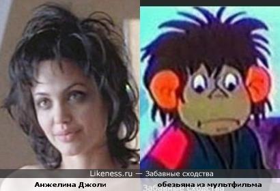 Анжелина Джоли немного похожа на перса из мультика