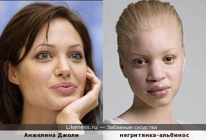 Анжелина Джоли похожа на негритянку