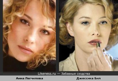Российская актриса Легчилова похожа на Джесссику Бил