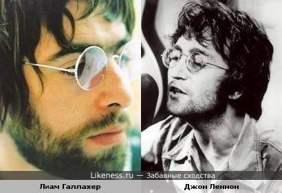 "Лиам Галлахер (""Oasis"") похож на Джона Леннона (""The Beatles"")"