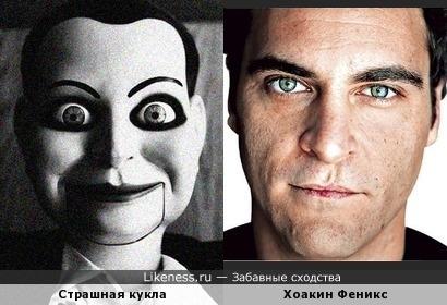 """Страшная кукла из фильма ужасов """"Мертвая тишина"""" похожа на Хоакина Феникса"""