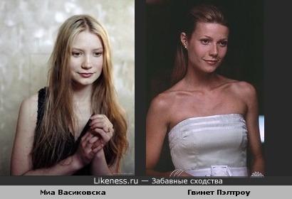 Миа Васиковска похожа на Гвинет Пэлтроу