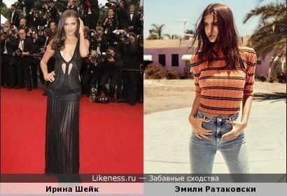 На этом фото Эмили Ратаковски напомнила мне Ирину Шейк