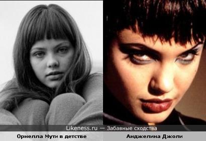 Анджелина Джоли и Орнелла Мути - что-то есть