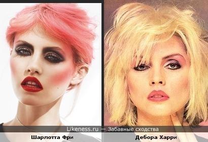 Модель похожа на солистку Blondie