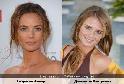 Актриса Анвар имеет некое сходство с теннисисткой Хантуковой