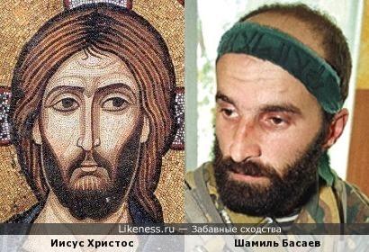 Иисус Христос на византийской иконе напоминает Шамиля Басаева