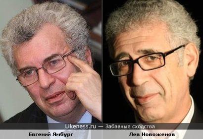 Евгений Ямбург похож на Льва Новоженова