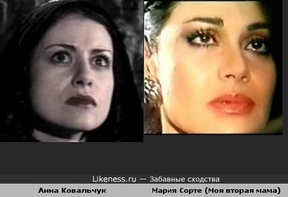 Анна Ковальчук похожа на Марию Сорте