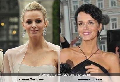 Невеста (жена) принца Монако напомнила певицу Славу