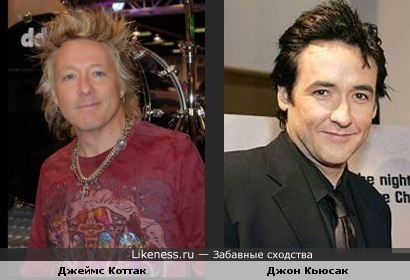 Джеймс Коттак из Scorpions похож на актера Джона Кьюсака