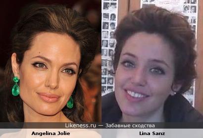 Lina Sandz копия Angelina Jolie