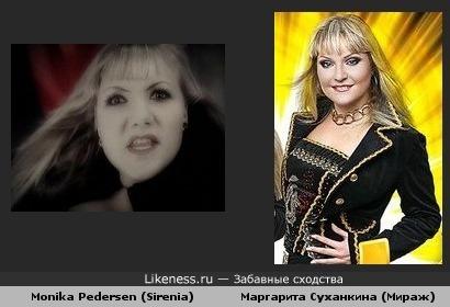 Monika Pedersen похожа на Маргариту Суханкину