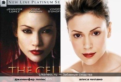 Дженнифер Лопес похожа на Алису Милано