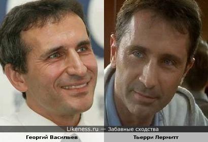 Георгий Васильев похож на Тьерри Лермитта