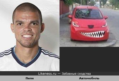 Футболист Пепе похож на забавный автомобиль