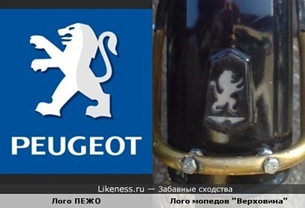 Логотип известной Французской фирмы похож на логотип с Советского мопеда