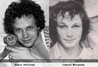 Молодые Борис Моисеев и Сергей Жигунов