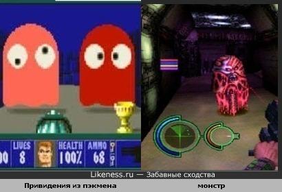 Монстр из lifeforce tenka формой напоминает привидений из пэкмена
