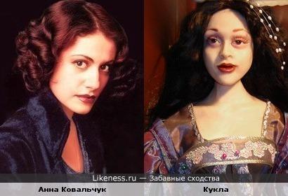 Кукла похожа на Анну Ковальчук