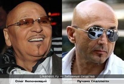 Олег Непомнящий и тренер «Зенита» Лучано Спаллетти