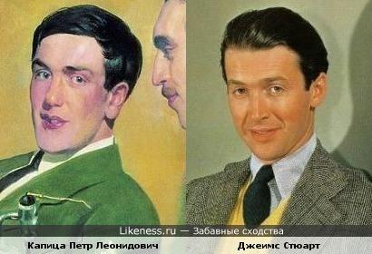 Сходство №2: Капица Петр Леонидович и Джеимс Стюарт
