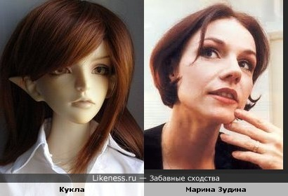 Кукла авторской работы напомнила Марину Зудину.