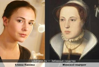 Женский портрет работы Петера Поурбуса и Елена Панова.