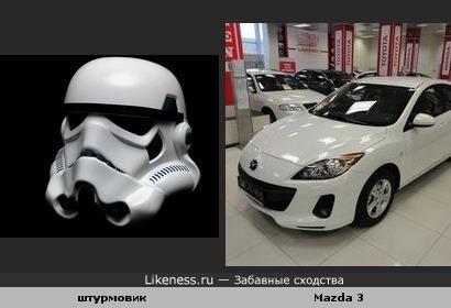 """При взгляде на """"Mazda 3""""-сразу вспоминается штурмовик из """"Звездных войн""""...."""