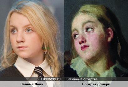 Портрет дочери Неврева Николая Васильевича(1903 год) и Эванна Линч.