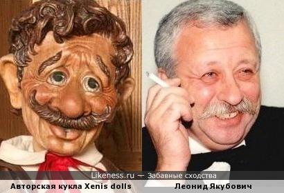 Авторская кукла Xenis dolls и Леонид Якубович
