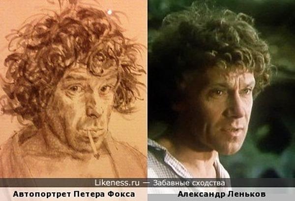 «Автопортрет» современного художника Петера Фокса в музее Рембранта и Александр Леньков