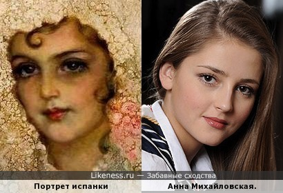 Портрет работы Джона Бенголда Берджесса и Анна Михайловская.