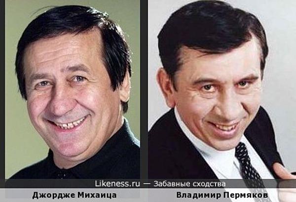 Владимир Пермяков (Лёня Голубков) похож на Джордже Михаица