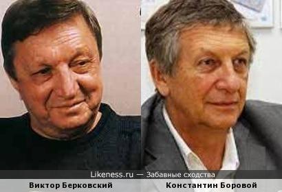 Виктор Берковский похож на Константина Борового