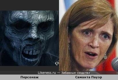 Персонаж фильма ужасов похож на Саманту Пауэр