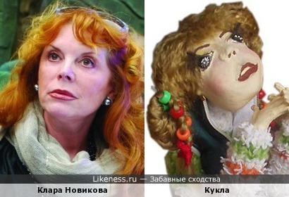 Кукла похожа на Клару Новикову