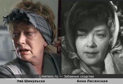 Эва Шикульска и Анна Лисянская