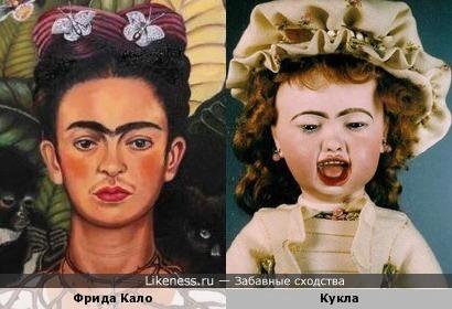 Антикварная кукла похожа на Фриду Кало