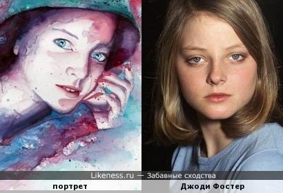 Акварельный портрет Молли Брилл напомнил Джоди Фостер
