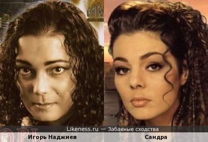 Игорь Наджиев похож на Сандру