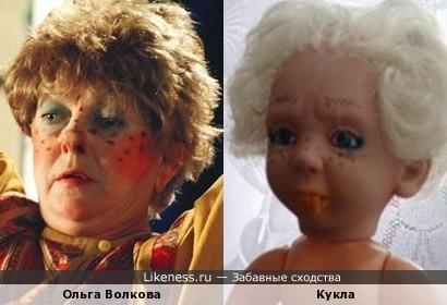 Кукла похожа на Ольгу Волкову