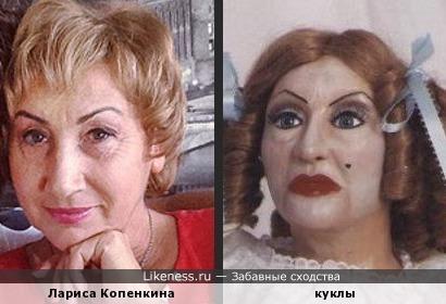 Лариса Копенкина, жена Прохора Шаляпина похожа на эту куклу