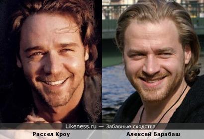 Алексей Барабаш похож на Рассела Кроу