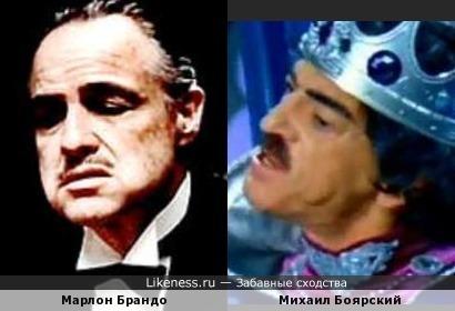 Михаил Боярский в этом ракурсе напомнил Марлона Брандо
