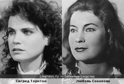 Сигрид Торнтон похожа на Любовь Соколову