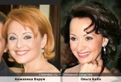Анжелика Варум похожа на Ольгу Кабо