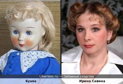 Кукла похожа на Ирину Савину