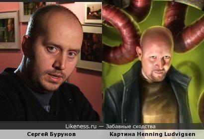 Сергей Бурунов на картине норвежского художника Henning Ludvigsen