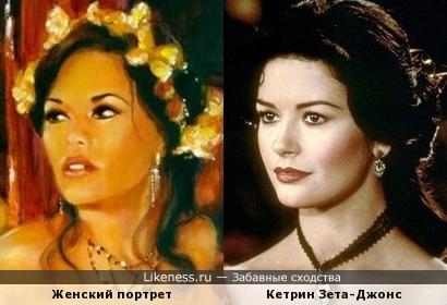 Женский портрет работы Кима Фудзивара напомнил Кетрин Зету-Джонс
